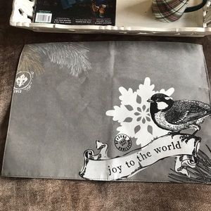 Other - NWT Holiday Silver & Black Placemat -Free w any pu